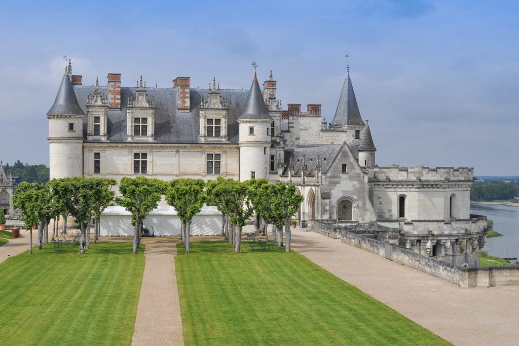 Les jardins et le château Royal d'Amboise
