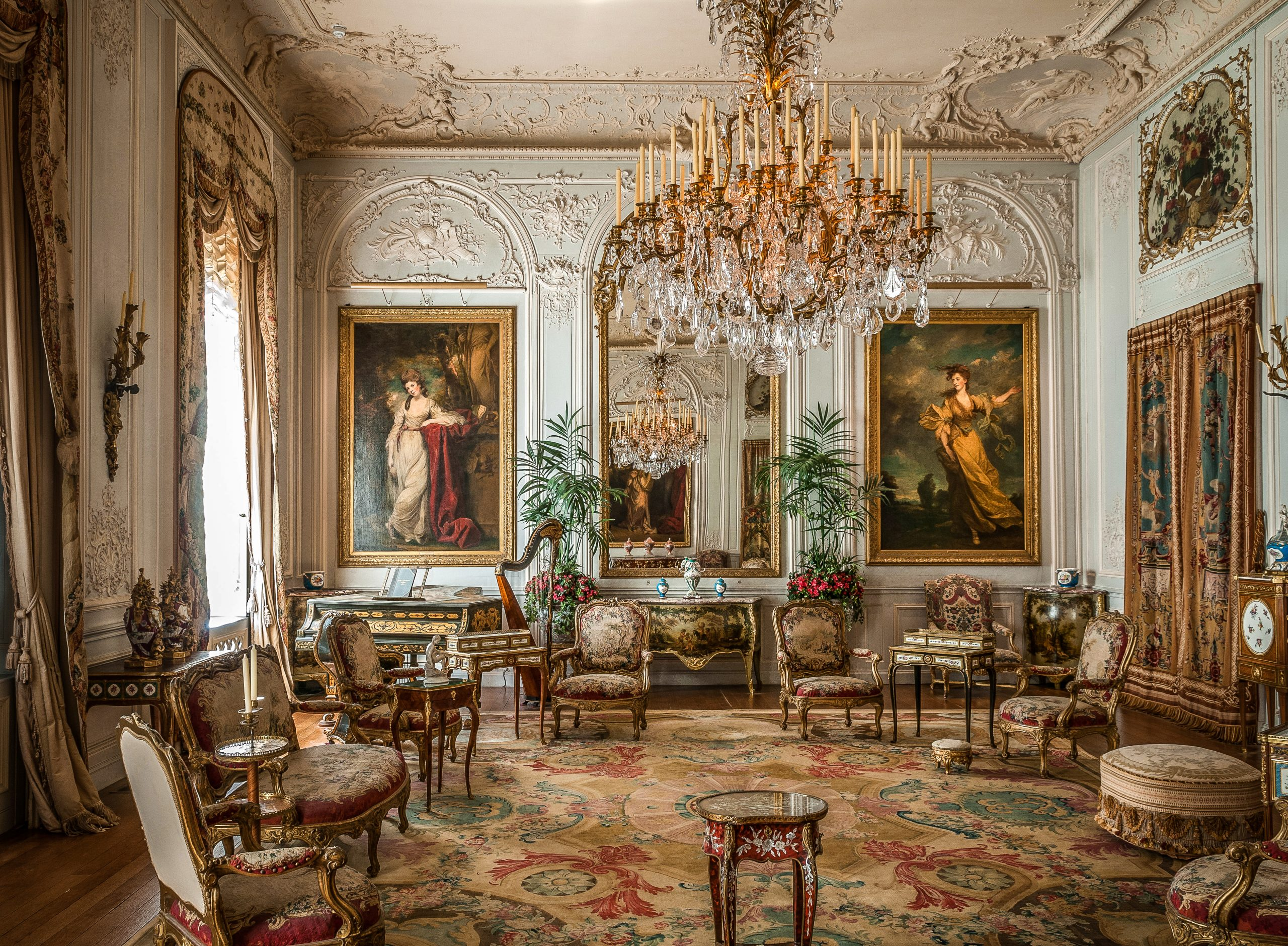 Grey Drawing Room. Image (c) National Trust, Waddesdon Manor, Mike Fear