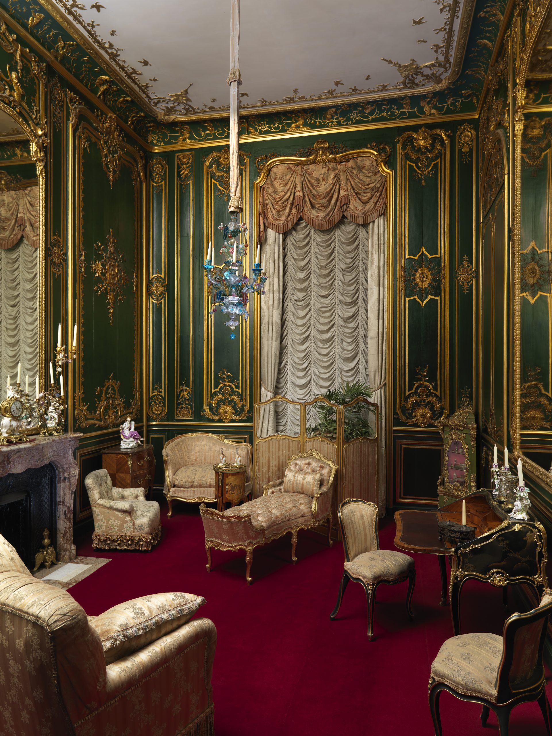 The Green Boudoir Waddesdon Manor - Photo: John Bigelow Taylor  ©The National Trust