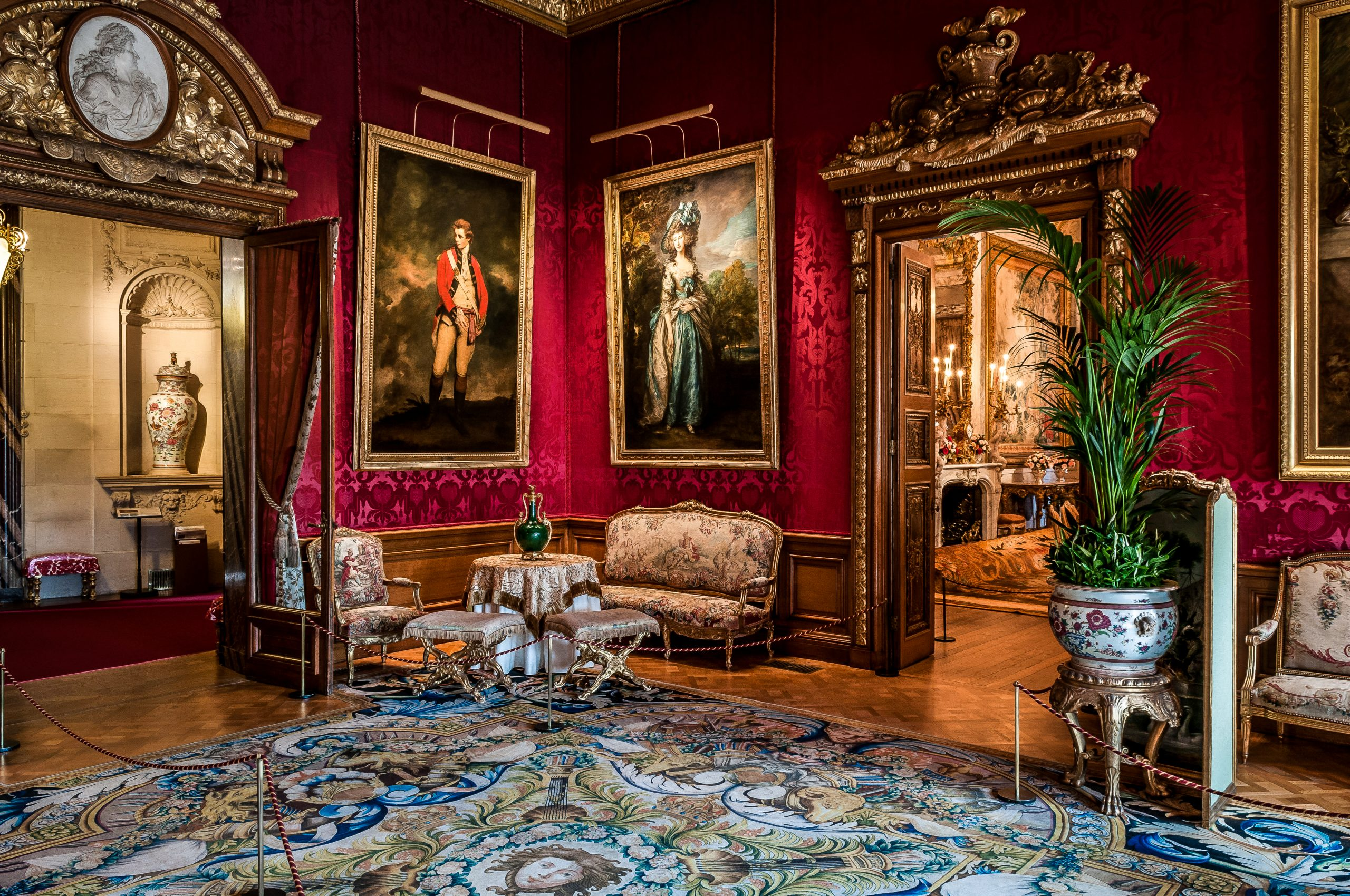 The Red Drawing Room, Waddesdon Manor. Photo Mike Fear © The National Trust, Waddesdon Manor
